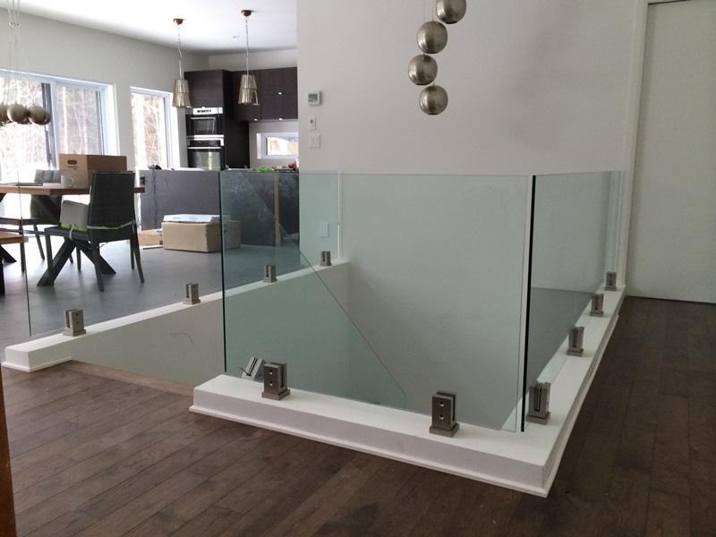 rampe en verre interieur